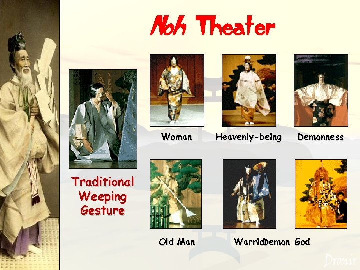 Noh Theater Woman Heavenly-being Demonness Traditional Weeping Gesture Old Man Warrior Demon God