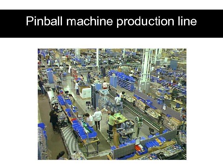 Pinball machine production line