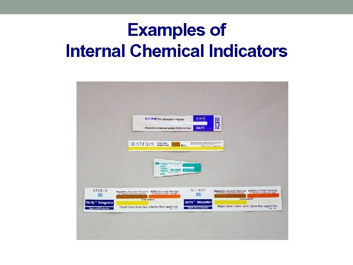 Examples of Internal Chemical Indicators