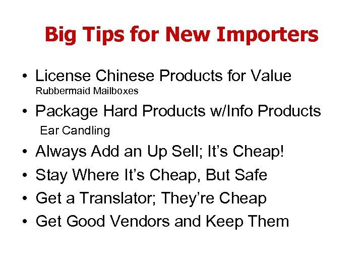 Big Tips for New Importers • License Chinese Products for Value Rubbermaid Mailboxes •