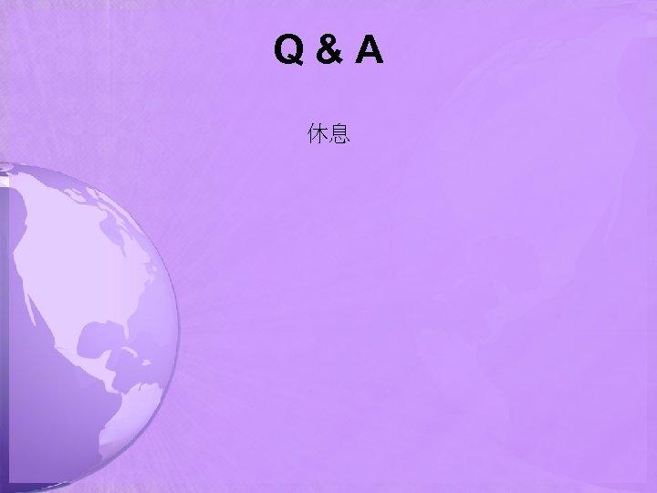 Q&A 休息