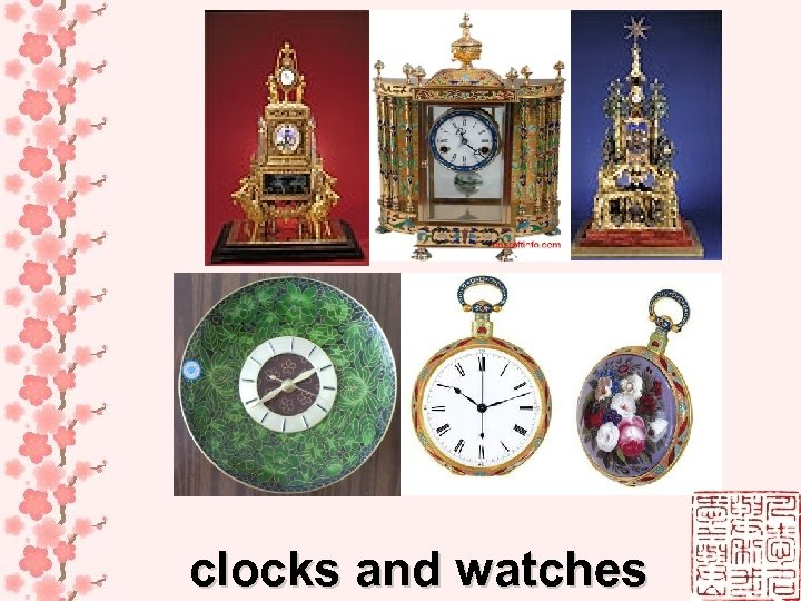 clocks and watches