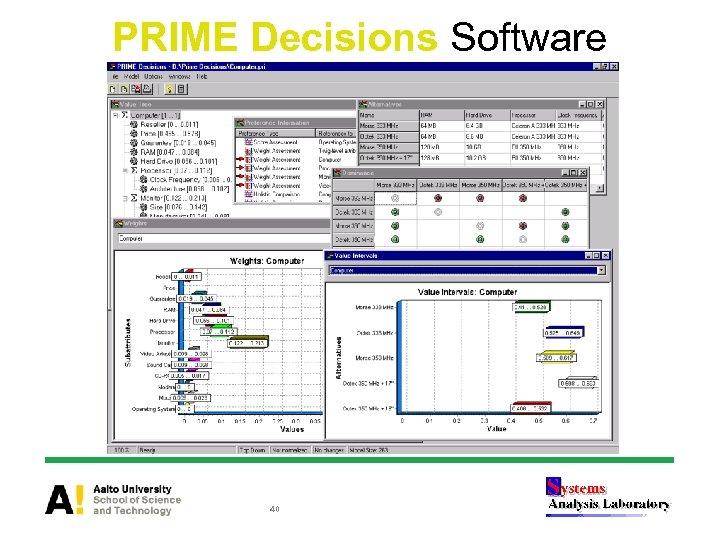 PRIME Decisions Software 40