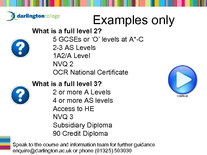 Examples only What is a full level 2? 5 GCSEs or 'O' levels at