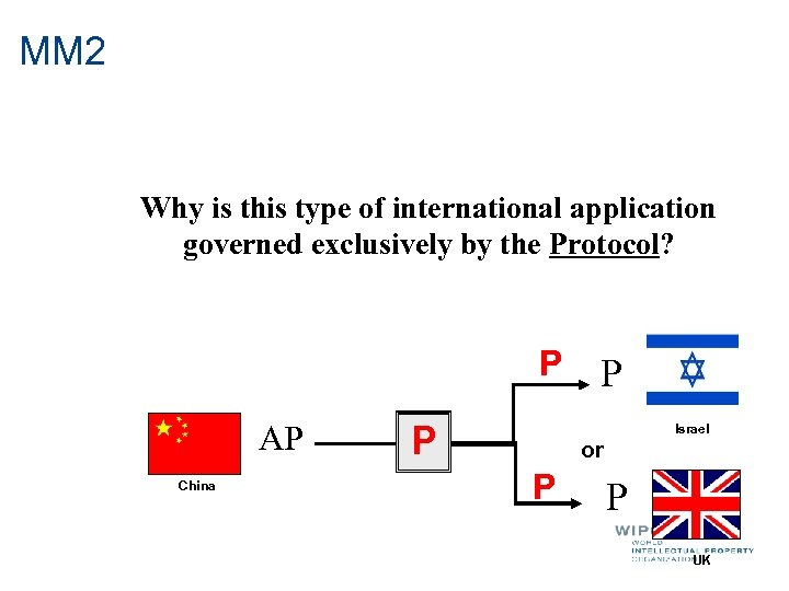 MM 2 Why is this type of international application governed exclusively by the Protocol?