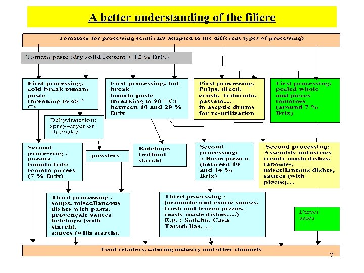 A better understanding of the filiere 7