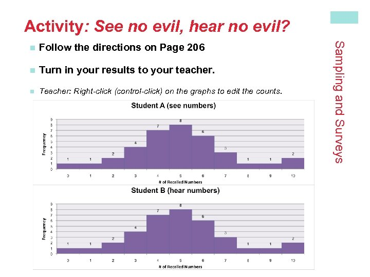 Activity: See no evil, hear no evil? Follow the directions on Page 206 n