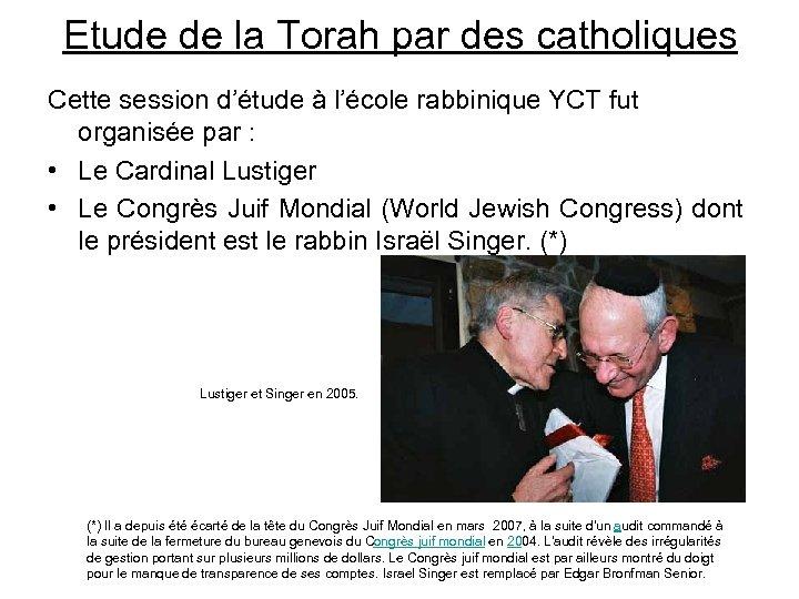 Etude de la Torah par des catholiques Cette session d'étude à l'école rabbinique YCT