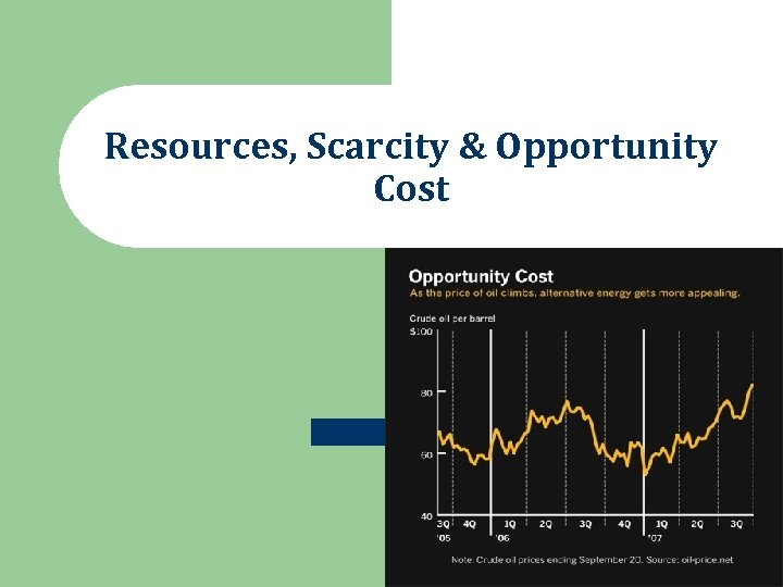 Resources, Scarcity & Opportunity Cost
