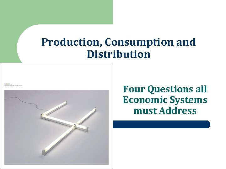 Production, Consumption and Distribution Four Questions all Economic Systems must Address