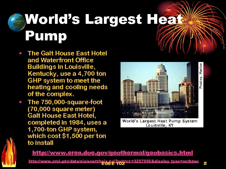 World's Largest Heat Pump • The Galt House East Hotel and Waterfront Office Buildings