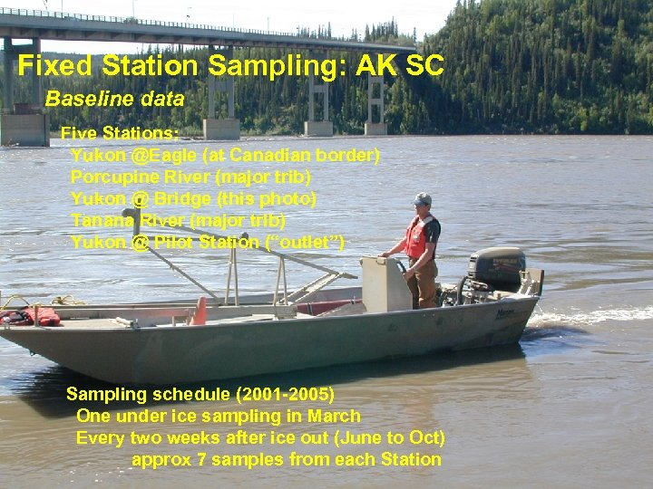 Fixed Station Sampling: AK SC Baseline data Five Stations: Yukon @Eagle (at Canadian border)