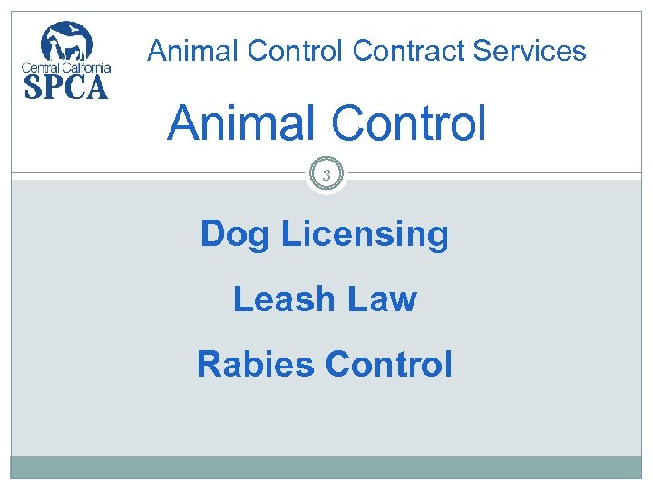 Animal Control Contract Services Animal Control 3 Dog Licensing Leash Law Rabies Control