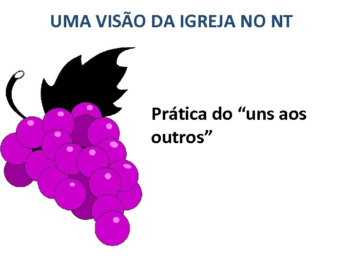 """UMA VISÃO DA IGREJA NO NT Prática do """"uns aos outros"""""""