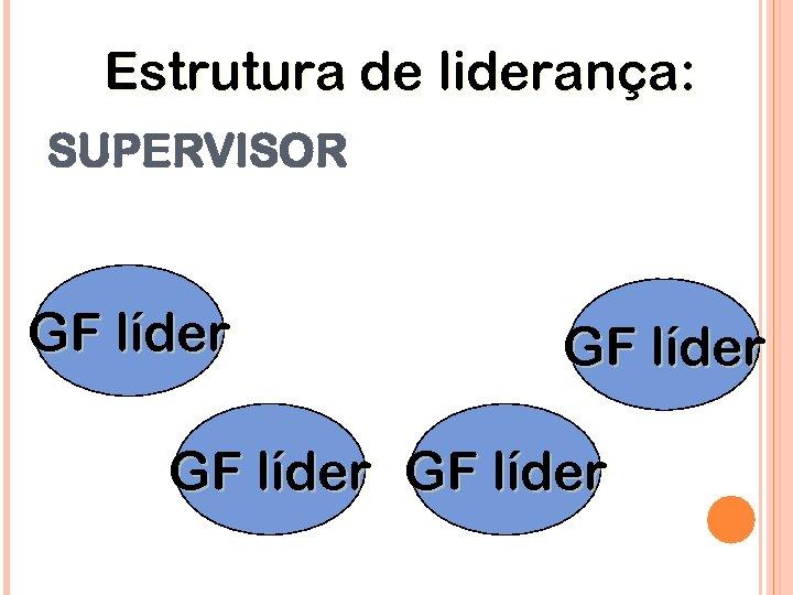 Estrutura de liderança: SUPERVISOR GF líder