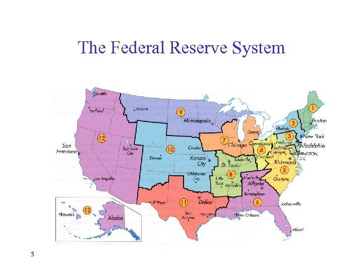 The Federal Reserve System 5 Copyright © Houghton Mifflin Company. All rights reserved.
