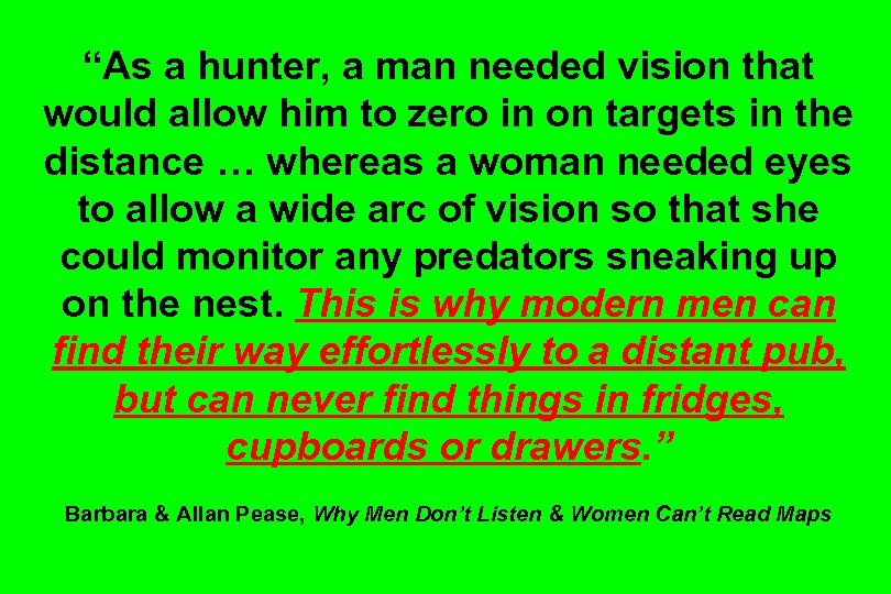 """""""As a hunter, a man needed vision that would allow him to zero in"""