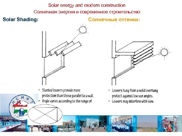 Solar energy and modern construction Солнечная энергия и современное строительство Solar Shading: Солнечные оттенки: