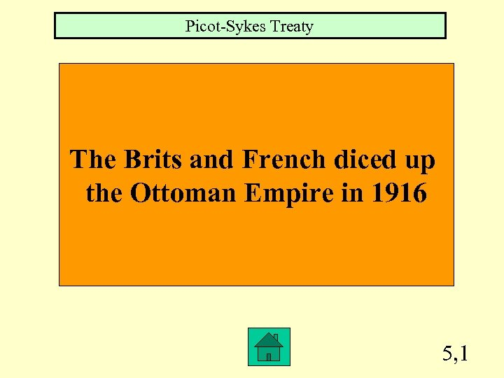Picot-Sykes Treaty The Brits and French diced up the Ottoman Empire in 1916 5,