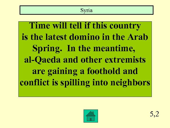 Syria Time will tell if this country is the latest domino in the Arab
