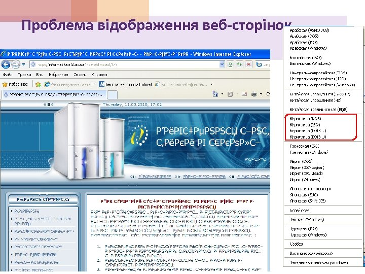 Проблема відображення веб-сторінок