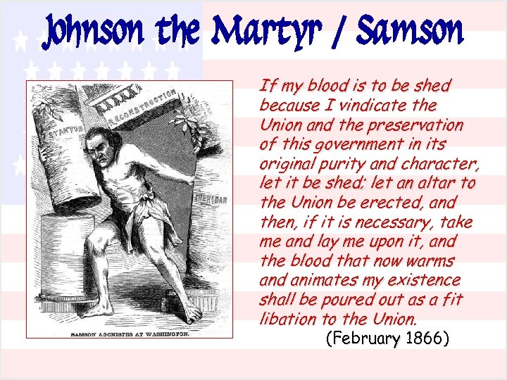 Johnson the Martyr / Samson If my blood is to be shed because I