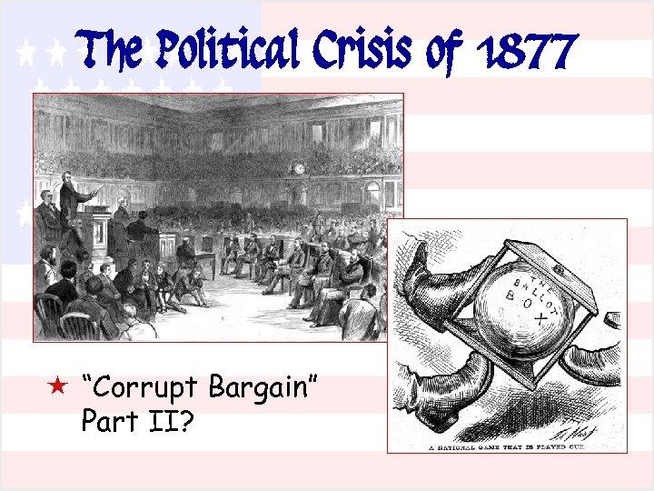"The Political Crisis of 1877 « ""Corrupt Bargain"" Part II?"
