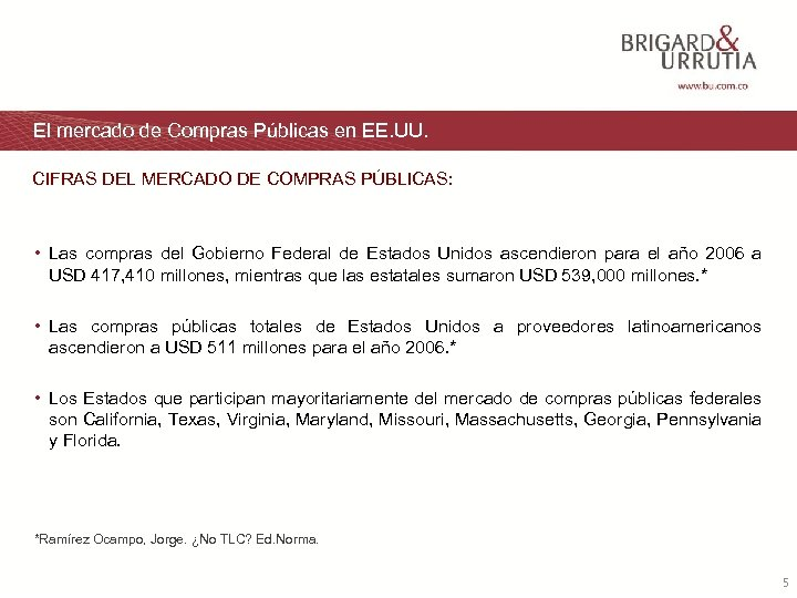 El mercado de Compras Públicas en EE. UU. CIFRAS DEL MERCADO DE COMPRAS PÚBLICAS: