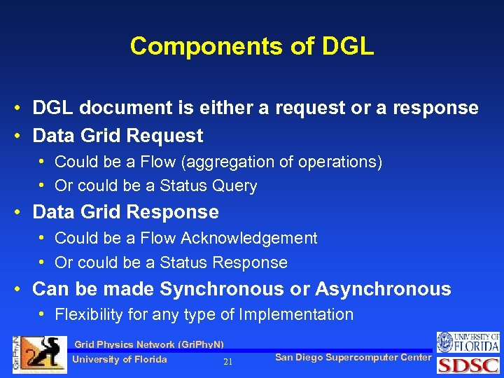 Components of DGL • DGL document is either a request or a response •