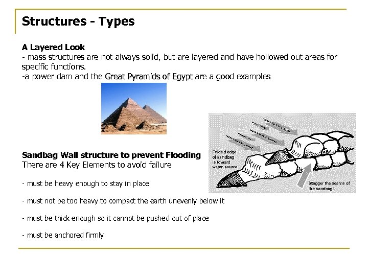 Structures - Types A Layered Look - mass structures are not always solid, but
