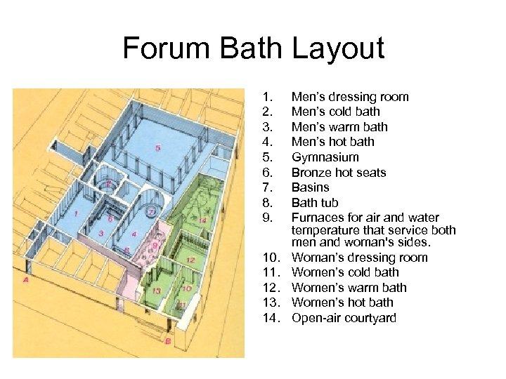 Forum Bath Layout 1. 2. 3. 4. 5. 6. 7. 8. 9. 10. 11.