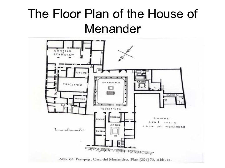 The Floor Plan of the House of Menander