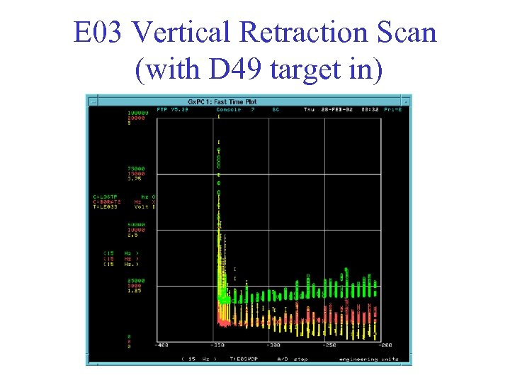 E 03 Vertical Retraction Scan (with D 49 target in)