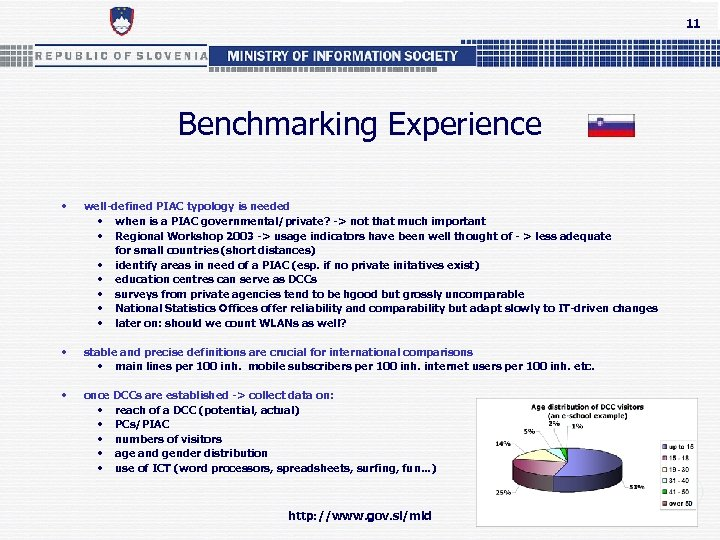 11 Benchmarking Experience • well-defined PIAC typology is needed • when is a PIAC