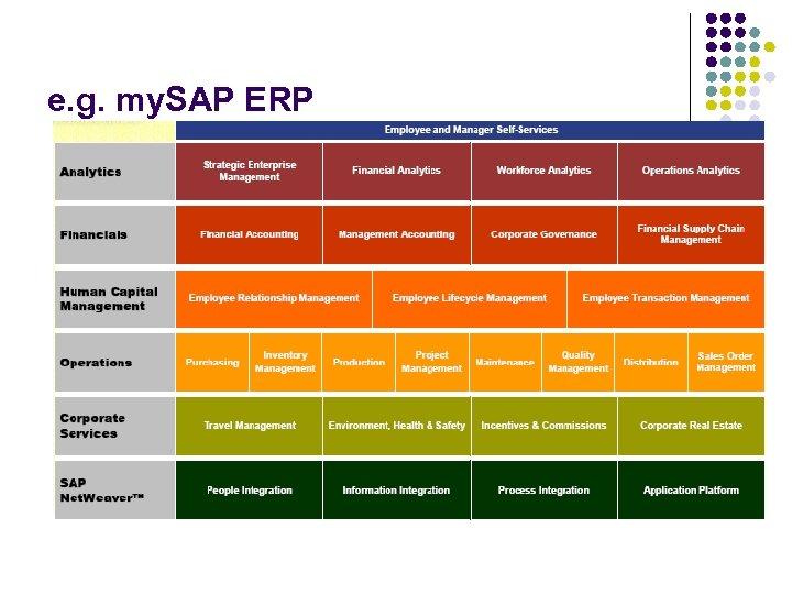 e. g. my. SAP ERP