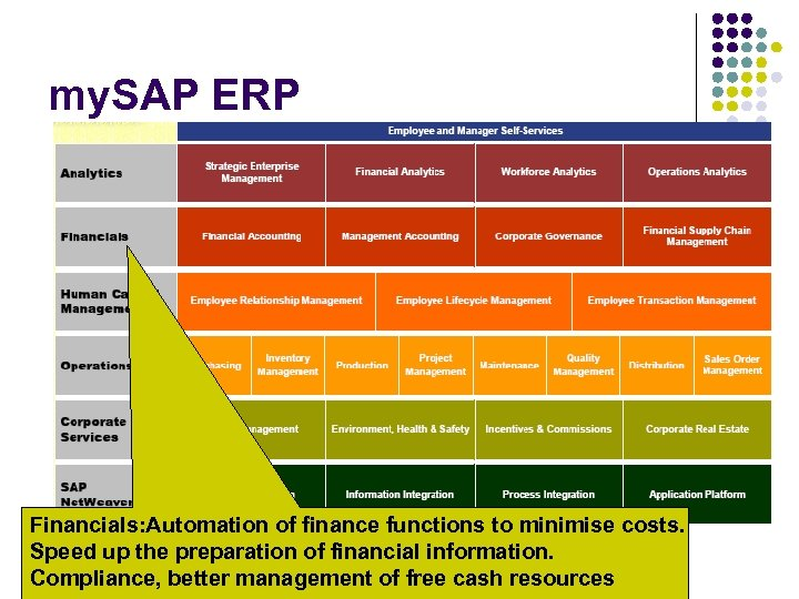 my. SAP ERP Financials: Automation of finance functions to minimise costs. Speed up the