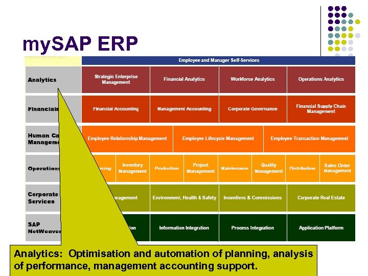 my. SAP ERP Analytics: Optimisation and automation of planning, analysis of performance, management accounting