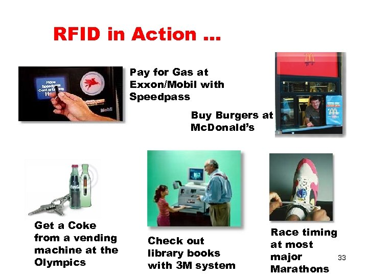 RFID in Action … Pay for Gas at Exxon/Mobil with Speedpass Buy Burgers at