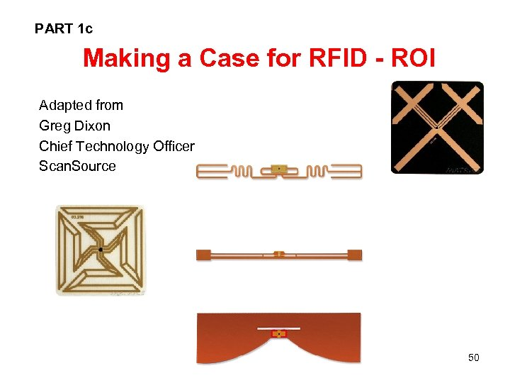 PART 1 c Making a Case for RFID - ROI Adapted from Greg Dixon
