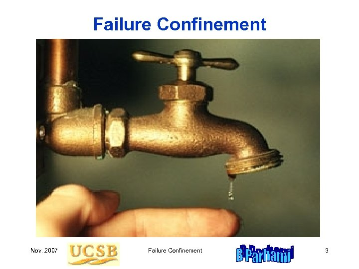 Failure Confinement Nov. 2007 Failure Confinement 3