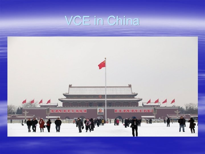 VCE in China