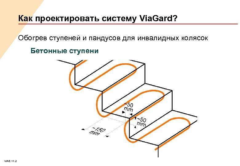 Как проектировать систему Via. Gard? Обогрев ступеней и пандусов для инвалидных колясок Бетонные ступени