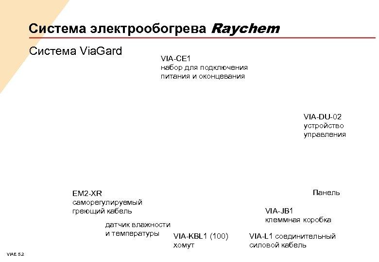 Система электрообогрева Raychem Система Via. Gard VIA-CE 1 набор для подключения питания и оконцевания