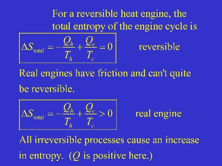 For a reversible heat engine, the total entropy of the engine cycle is