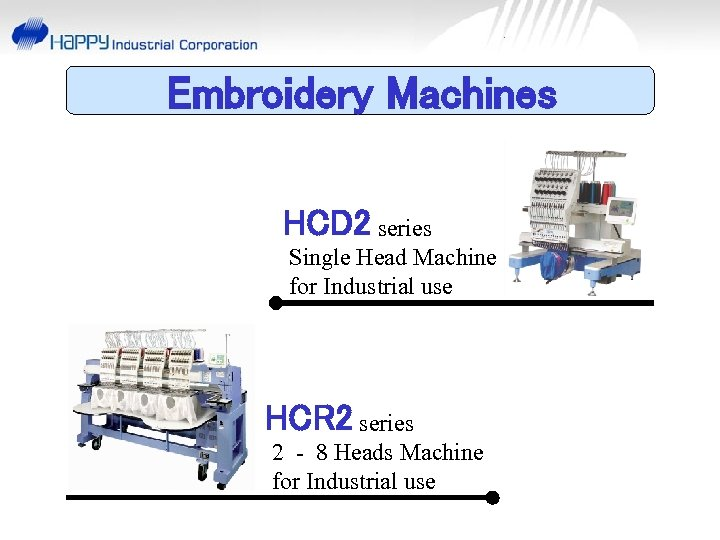 Embroidery Machines HCD 2 series Single Head Machine for Industrial use HCR 2 series
