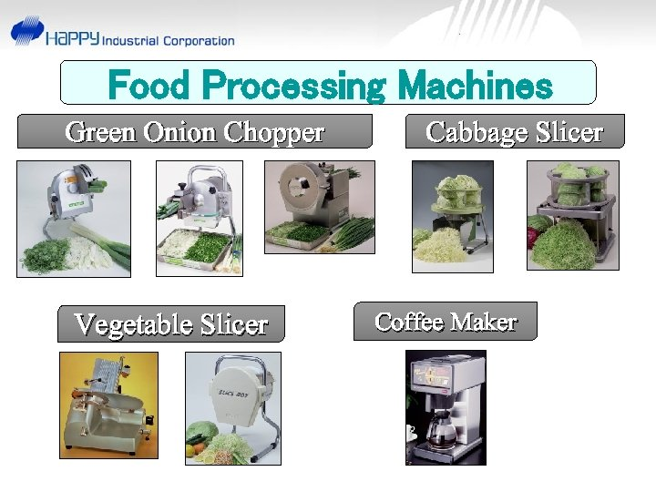 Food Processing Machines Green Onion Chopper Vegetable Slicer Cabbage Slicer Coffee Maker