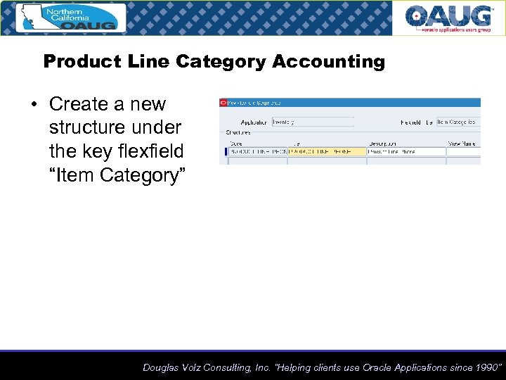 """Product Line Category Accounting • Create a new structure under the key flexfield """"Item"""