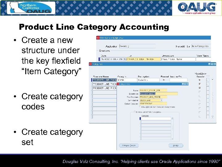 "Product Line Category Accounting • Create a new structure under the key flexfield ""Item"