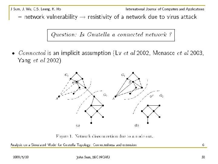 2009/5/20 John Sum, IEC NCHU 32