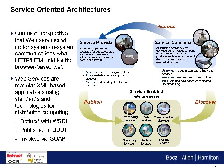 Service Oriented Architectures Access 4 Common perspective that Web services will do for system-to-system